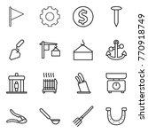 thin line icon set   flag  gear ... | Shutterstock .eps vector #770918749