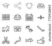 thin line icon set   graduate... | Shutterstock .eps vector #770918845