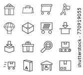 thin line icon set   gift ... | Shutterstock .eps vector #770919055