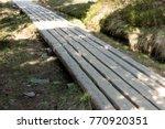 wooden boardwalk in the...   Shutterstock . vector #770920351
