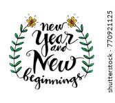 new year and new beginning... | Shutterstock .eps vector #770921125