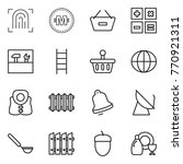 thin line icon set  ... | Shutterstock .eps vector #770921311