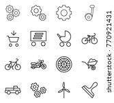 thin line icon set   gear ...   Shutterstock .eps vector #770921431