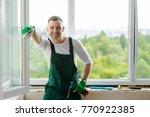 portrait of a handsome workman  ...   Shutterstock . vector #770922385