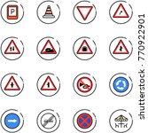 line vector icon set   parking... | Shutterstock .eps vector #770922901