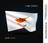 cyprus 3d style glowing flag...   Shutterstock .eps vector #770923321