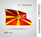 macedonia 3d style glowing flag ...   Shutterstock .eps vector #770923327