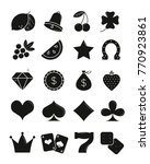 casino black sihlouettes icons... | Shutterstock . vector #770923861