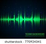 vector sound waves. audio... | Shutterstock .eps vector #770924341