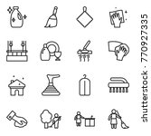 thin line icon set   cleanser ... | Shutterstock .eps vector #770927335