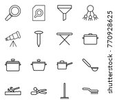 thin line icon set   magnifier  ... | Shutterstock .eps vector #770928625