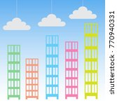 abstract high rise buildings... | Shutterstock .eps vector #770940331