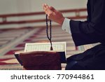 hand of muslim people praying... | Shutterstock . vector #770944861