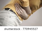 health care concept. bellyache  ... | Shutterstock . vector #770945527