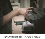 setting printer on office and... | Shutterstock . vector #770947039