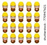 cartoon builder character.... | Shutterstock .eps vector #770947621