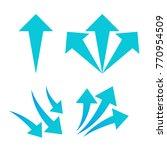 set of arrows on white... | Shutterstock .eps vector #770954509