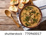 delicious mushroom soup with... | Shutterstock . vector #770960017
