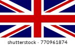 vector great britain flag.... | Shutterstock .eps vector #770961874