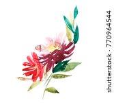 flowers watercolor illustration.... | Shutterstock . vector #770964544