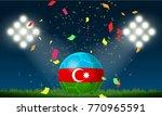 azerbaijan flag football and... | Shutterstock .eps vector #770965591