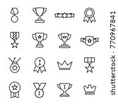 simple set of award related... | Shutterstock .eps vector #770967841