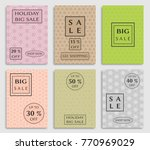 collection of sale banners ... | Shutterstock .eps vector #770969029