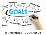 goals concept. chart with... | Shutterstock . vector #770970505