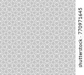 arabic geometric seamless... | Shutterstock .eps vector #770971645