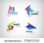 vector set of abstract 3d... | Shutterstock .eps vector #770972737