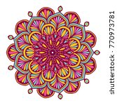 colorful mandalas for coloring... | Shutterstock .eps vector #770973781