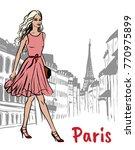 fashion illustration of woman... | Shutterstock . vector #770975899