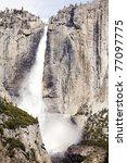 waterfall yosemite national park usa - stock photo