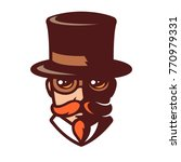 steampunk man portrait in... | Shutterstock .eps vector #770979331