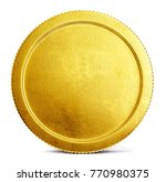 gold coin sign isolated on a...   Shutterstock . vector #770980375