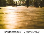 street low angle with people in ... | Shutterstock . vector #770980969
