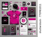 corporate identity template... | Shutterstock .eps vector #770981011