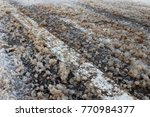 de icing chemicals and sand on...   Shutterstock . vector #770984377