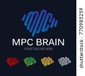 modern brain logo | Shutterstock .eps vector #770985259