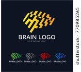 modern brain logo | Shutterstock .eps vector #770985265