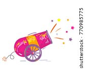 circus shooting cannon. vintage ... | Shutterstock .eps vector #770985775