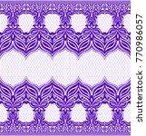 seamless lace pattern  flower... | Shutterstock .eps vector #770986057