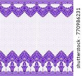 seamless lace pattern  flower... | Shutterstock .eps vector #770986231