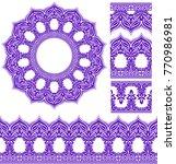 vector set of design elements ... | Shutterstock .eps vector #770986981