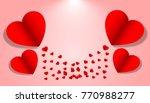 valentine concept card holidays ... | Shutterstock .eps vector #770988277