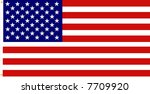 accurate american flag is...   Shutterstock . vector #7709920