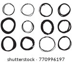 hand drawn circle elements... | Shutterstock .eps vector #770996197