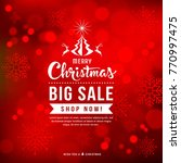 merry christmas sale concept... | Shutterstock .eps vector #770997475