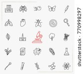 biology line icons set | Shutterstock .eps vector #770998297