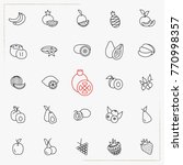 berries and fruits line icons... | Shutterstock .eps vector #770998357